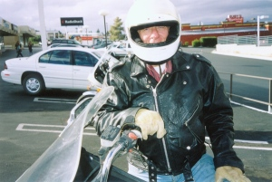 My uncle at a rest stop in Needles, California.