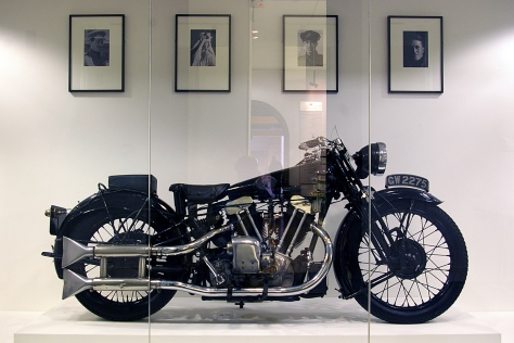 Lawrence's Brough Superior SS100 on display