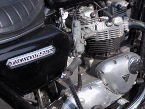 A 750cc Triumph Bonneville.