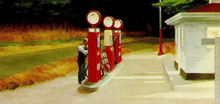 Edward Hopper Moments Motorcycle Days