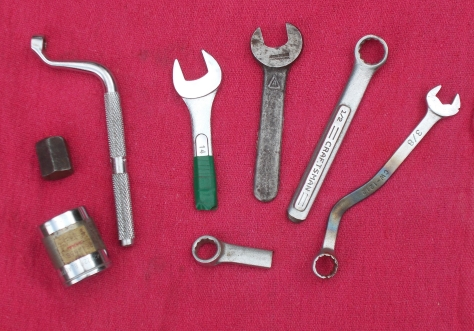 Some modified tools. The Armstrong is third from the right.